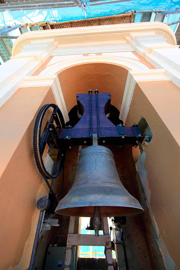 Vista de las campanas