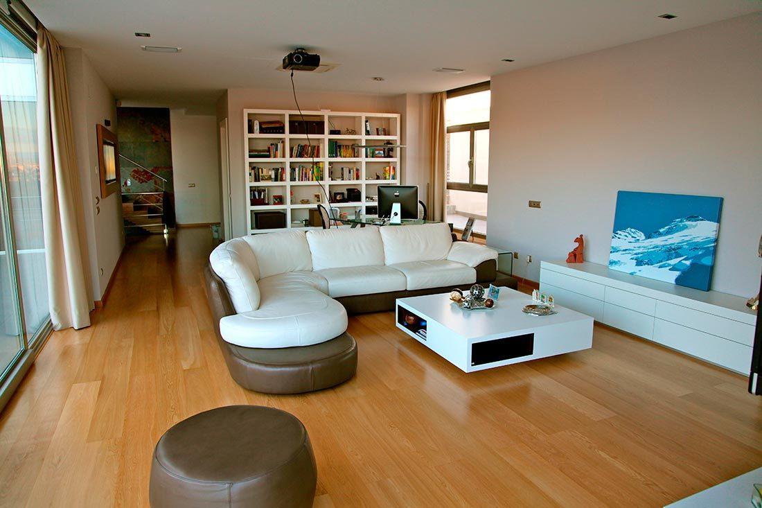 Salón en vivienda unifamiliar